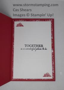 wedding card in