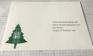 plaid tree card env