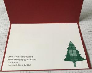 plaid tree card inside