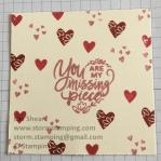valentine puzzle stamped