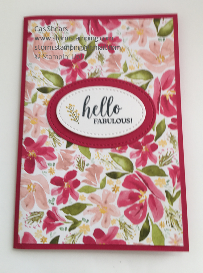 hello Fabulous card