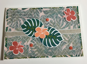 tropical chic vellum card
