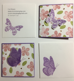 Butterfly wishes pizza box purple