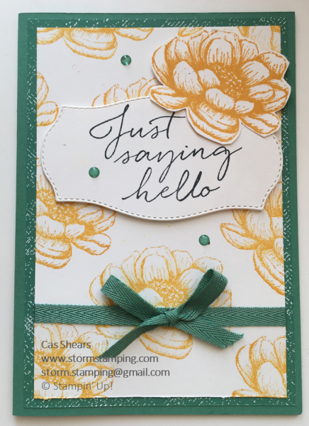 Simple Stamping Tasteful Touches avid
