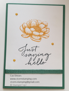 Simple Stamping Tasteful Touches casual