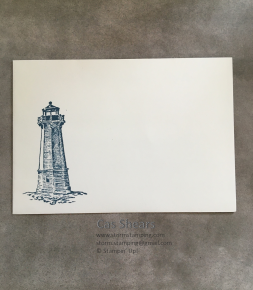 Lighthouse thanks card env