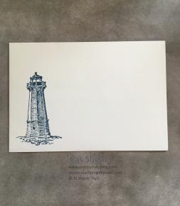 Lighthouse thanks card env