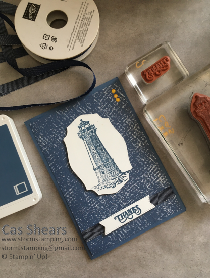 Lighthouse thanks card
